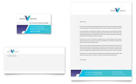 dentist business card letterhead template design