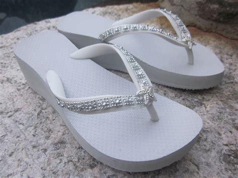 Wedding Sandals : Wedding Shoes/flip Flops/ Wedges For By Rocktheflops On Etsy