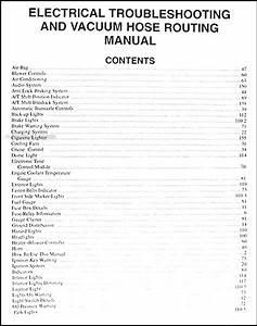 2000 Kia Sephia Electrical Troubleshooting Manual Original