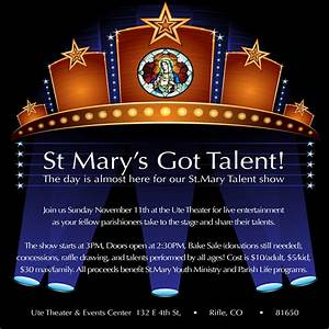 St. Mary's Got Talent! – The Ute Theater
