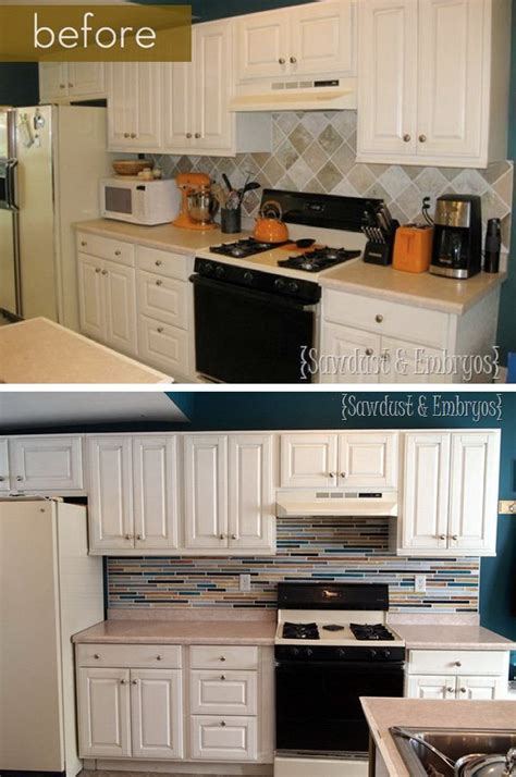 changing tiles in kitchen before and after 25 budget friendly kitchen makeover 5231