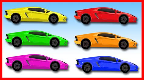 Learning Colors With Racing Cars. Car Cartoons For