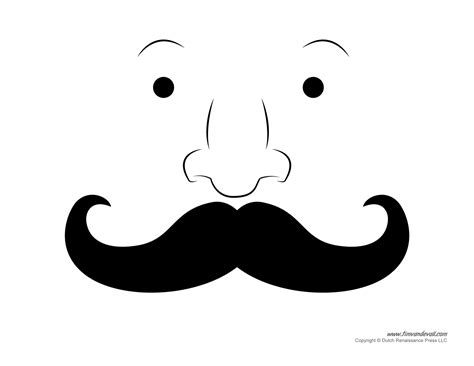 Mustache Template Printable Mustache Templates Mustaches For