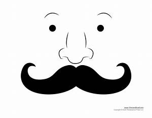 printable mustache templates mustaches for kids With mustach template
