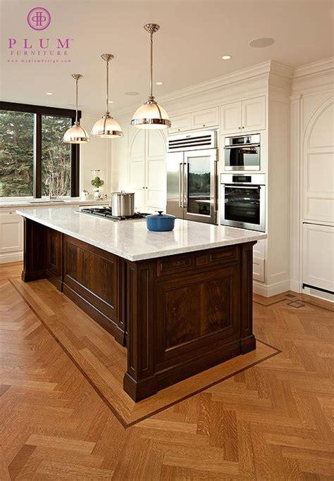 herringbone wood floor traditional kitchen mcgill design