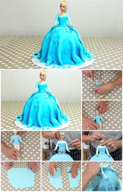 diy disney frozen princess elsa doll cake usefuldiycom