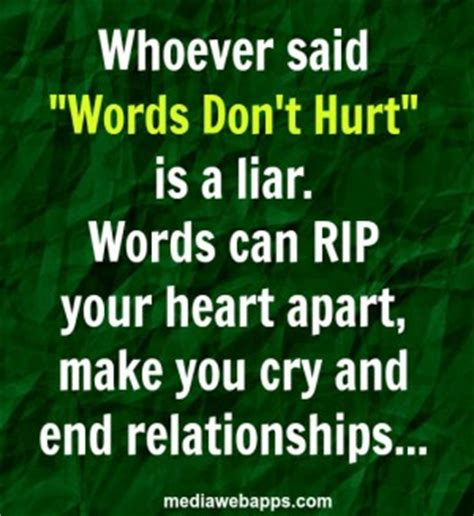Your Words Hurting Me Quotes