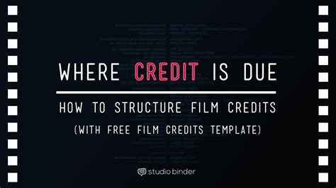 film credits the ultimate guide to credits order hierarchy with template