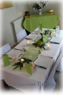 d 233 coration table mariage anis blanc chic