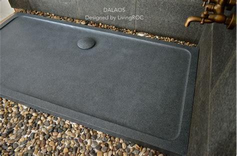 1800x900 Granite Shower Tray Grey Stone   DALAOS