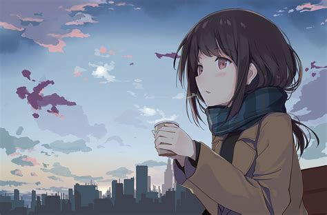 Download 1500x989 Anime Girl Profile View Brown Hair