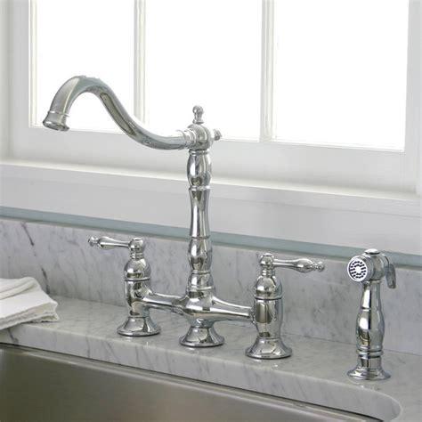 bridge style kitchen faucet charelstown bridge style 2 handle chrome kitchen faucet