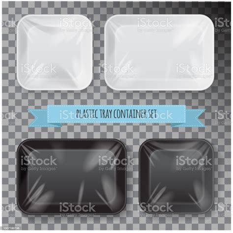 Can be used for different products, food, meat, fish, ham, cheese, sausage, snacks, vegetables, etc. Set Of Black And White Rectangle Styrofoam Plastic Food ...