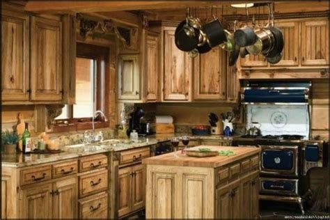 Country Kitchen Cabinets Cream Color Granite Countertops