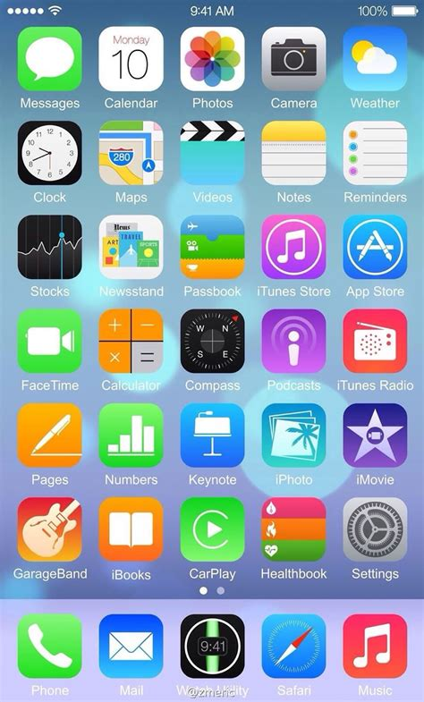 iphone home page iphone ios 8 home screen