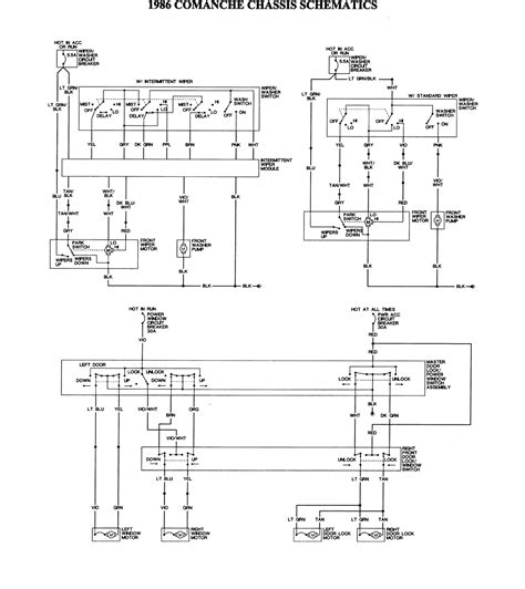 Wiring Diagram For 1988 Jeep Comanche by 1986 Jeep Comanche Chassis 2 Of 2 Large Freeautomechanic
