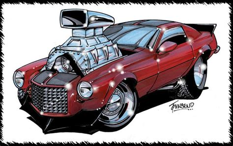 The Gallery For --> Old Muscle Cars Drawings