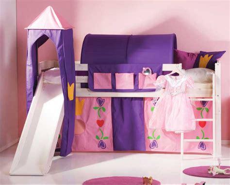 hochbett mit rutsche mädchen etagenbett rosa massivholz mit schrank und treppenschrank