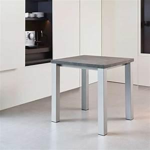 Table Cuisine Carrée : table de cuisine carr e en stratifi quadra 4 ~ Teatrodelosmanantiales.com Idées de Décoration
