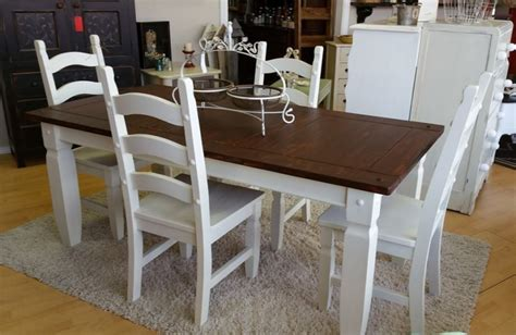 fabulous farmhouse table and chairs in antique white milk