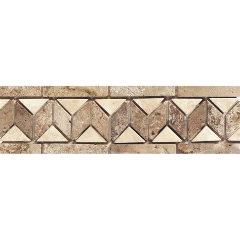 travertine border daltile ts24312br1p travertine sand walnut 3 x 12 wide border decorative mu sand walnut tile