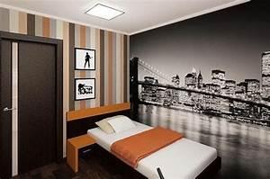 decoration chambre ado papier peint skyline rayure des With papier peint chambre ado