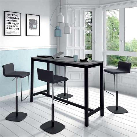 table haute de cuisine hauteur 110 cm en stratifié et