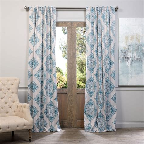 Teal 120 Inch Curtain Panel by Henna Teal 108 X 50 Inch Blackout Curtain Single Panel
