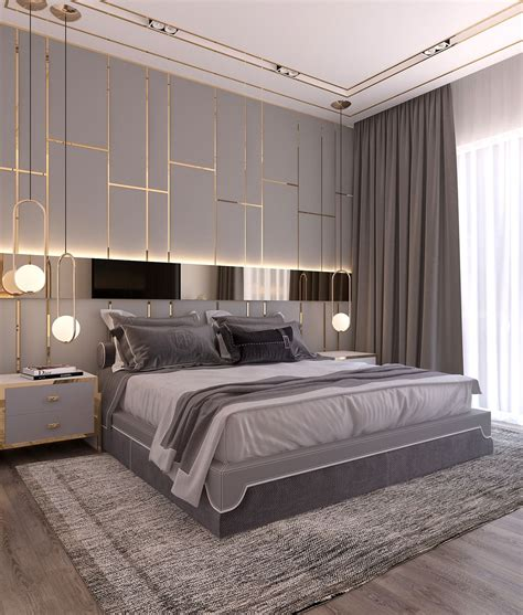 modern style bedroom dubai project  behance