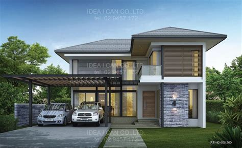 modern two story house plans modern 2 storey house plans with garage google search house ideas pinterest modern