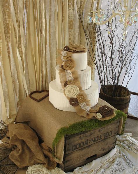 burlap cake topper rustic wedding cake decoration burlap