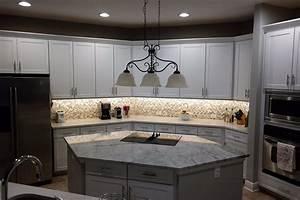 Bathroom hexagonal kitchen island with super white