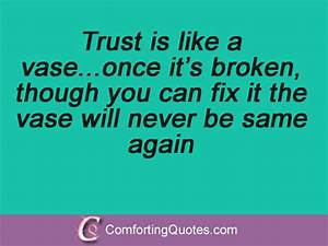 Once Trust Is Broken Quotes. QuotesGram