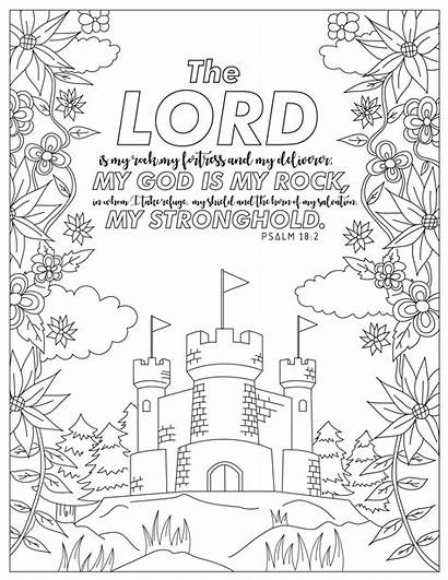 Coloring Psalm Fear Printable Pdf Adults Sheets