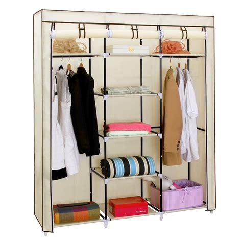 songmics portable clothes closet wardrobe storage