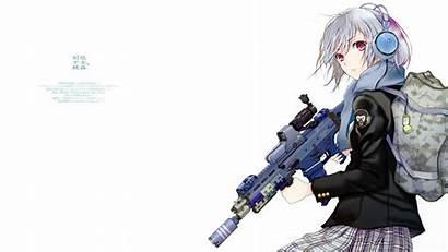 Anime Guns Wallpapers Headphones Fuyuno Haruaki Background