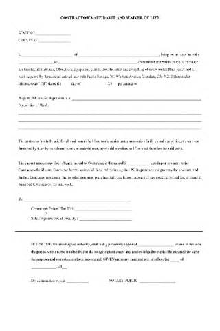 Free Lien Waiver Release Form