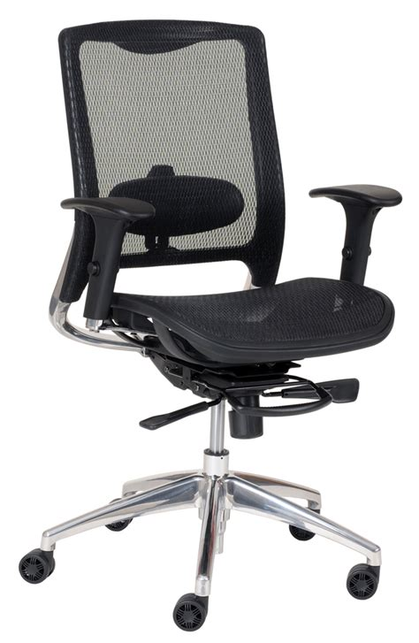 chair high back exec task with neck rest black mesh