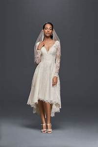 17 best images about oleg cassini wedding dresses on With long sleeve high low wedding dresses