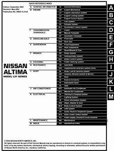 Nissan Stanza Altima Model L31 Series 2003 Service Manual