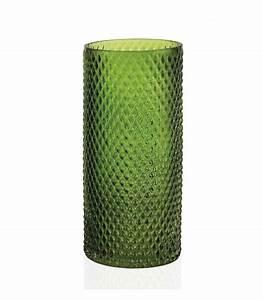 Vase En Verre Haut : vase haut rond en verre vert translucide diam 12cm ~ Nature-et-papiers.com Idées de Décoration