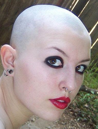 smooth shaves images  pinterest bald women