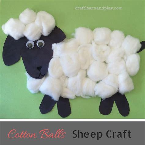 simple cotton balls sheep craft