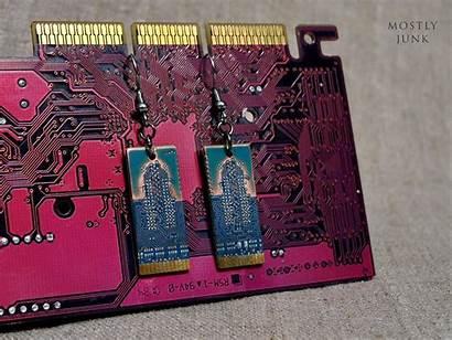 Aesthetic Cyberpunk Circuit Board 2077 Jewelry Geek