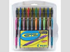 G2 Retractable Gel Ink Assorted Pens Fine Point, 20Pack