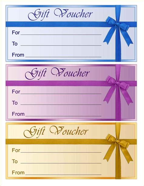 gift certificates templates  template