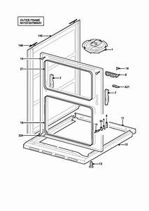 Zanussi Zkc6020w  94852218101  Oven H Outer Frame Spare Parts Diagram