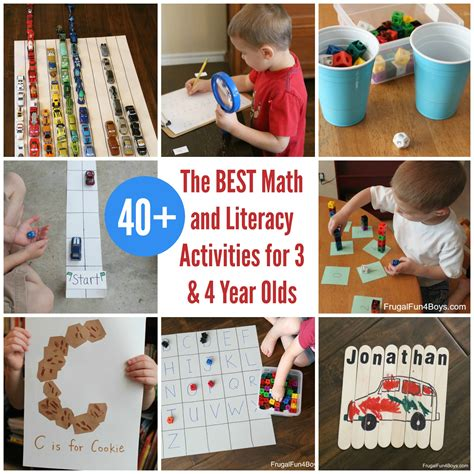 math  literacy activities  preschoolers