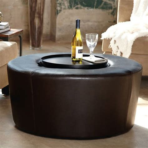 Small Round Ottoman Coffee Table Modern Home Interiors New