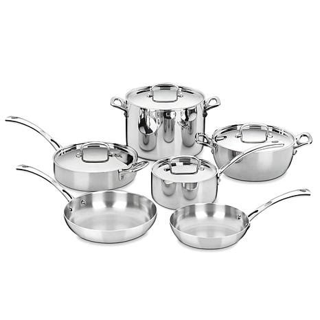 cuisinart classic  piece stainless steel french cookware